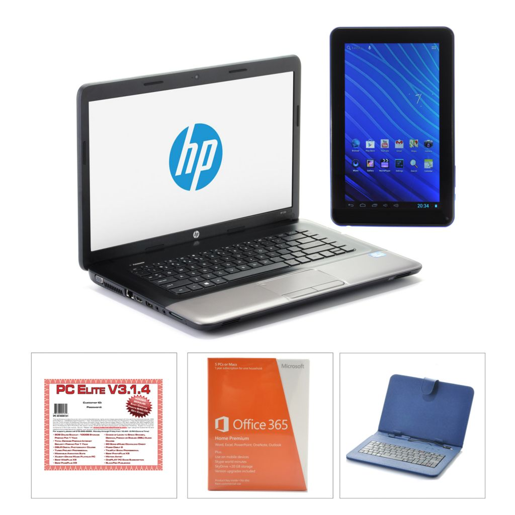 "443-945 - HP 15.6"" Core i3 320GB Notebook w/ Software, MS Office, 9"" Tablet & Keyboard Case"