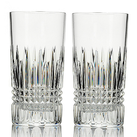 443-975 - Waterford Crystal Lismore Diamond Set of Two 12 oz Highball Glasses