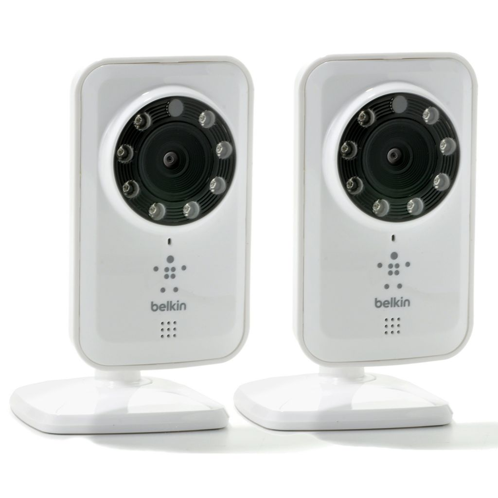 444-014 - Belkin Set of Two Netcam Wi-Fi Cameras w/ Night Vision