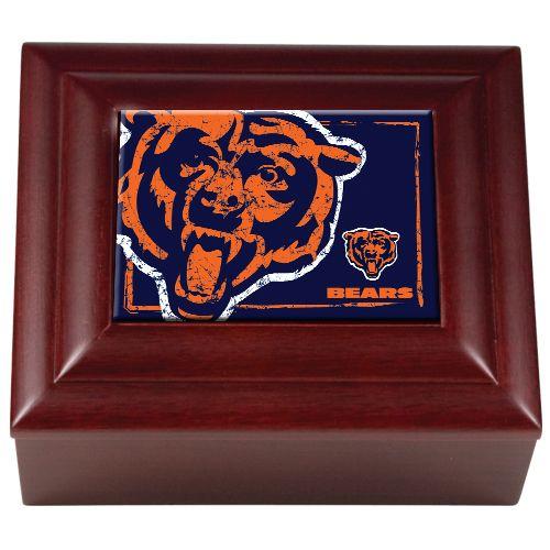 444-056 - NFL Mahogany Wood Keepsake Box