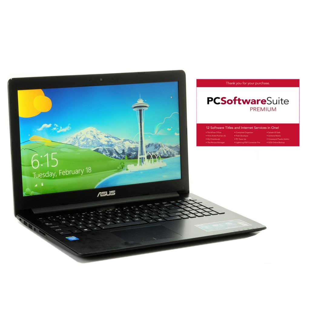 "444-084 - ASUS 15.6"" LED 4GB RAM/320GB HDD 1.5GHz Windows® 8 Wi-Fi Notebook w/ Software"