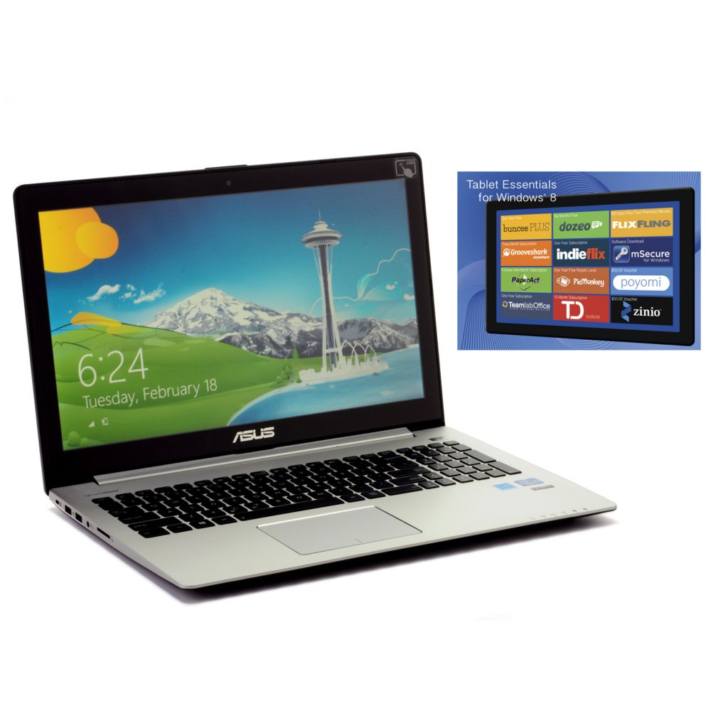 "444-085 - ASUS 15.6"" Touch Screen Windows® 8 6GB RAM/500GB HDD Core i5 Notebook w/ Software"