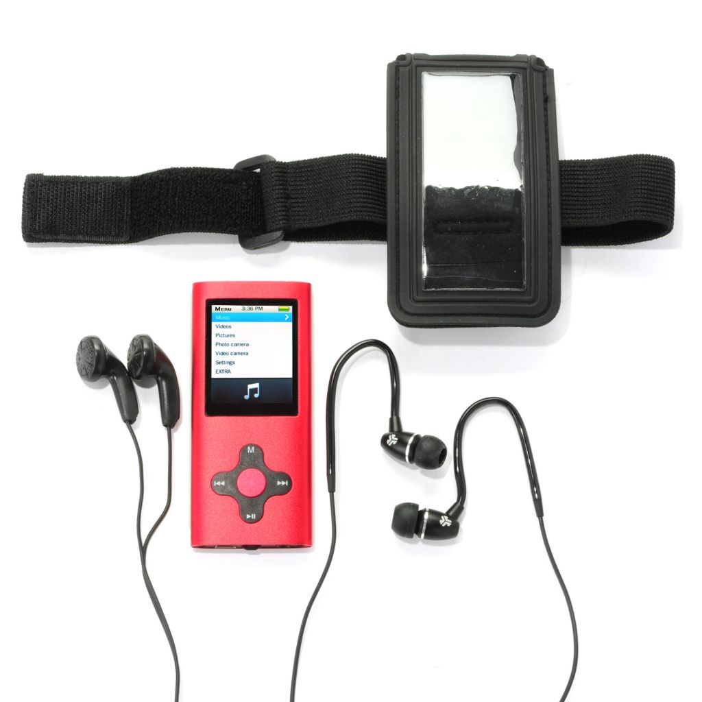 444-162 - Eclipse 4GB Video MP3 Player w/ Armband & JLab Sports Earbuds