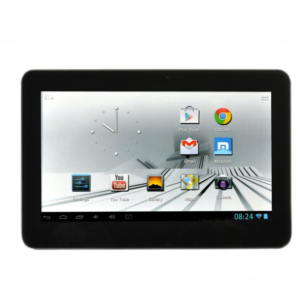 "444-167 - D2® 10"" LCD 16GB Quad-Core Android™ 4.1 Wi-Fi Tablet w/ Google Play Access"