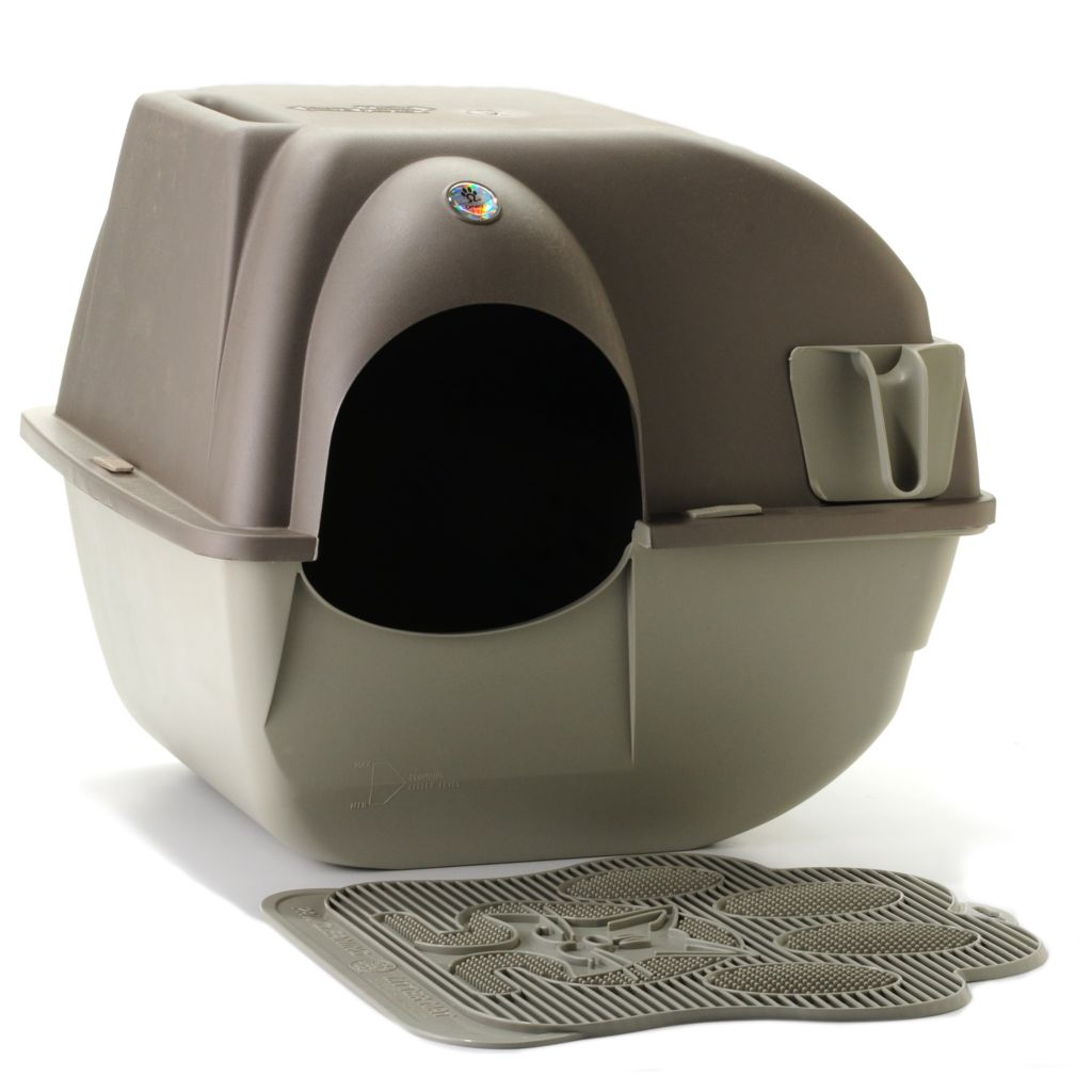 444-168 - Omega Paw® Roll'n Clean™ Self-Cleaning Cat Litter Box