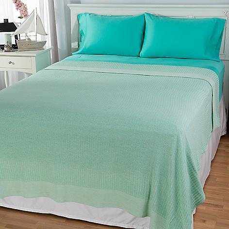 444-179 - Cozelle® 100% Cotton Blanket w/ 300TC Four-Piece Sheet Set