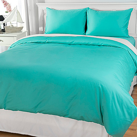 444-180 - Cozelle® 100% Cotton Solid Sateen Three-Piece Duvet Set