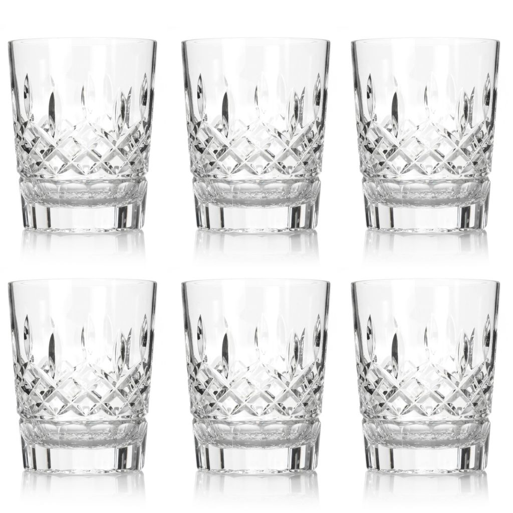 444-209 - Waterford® Crystal Lismore Set of Six 12 oz Double Old Fashioned Glasses