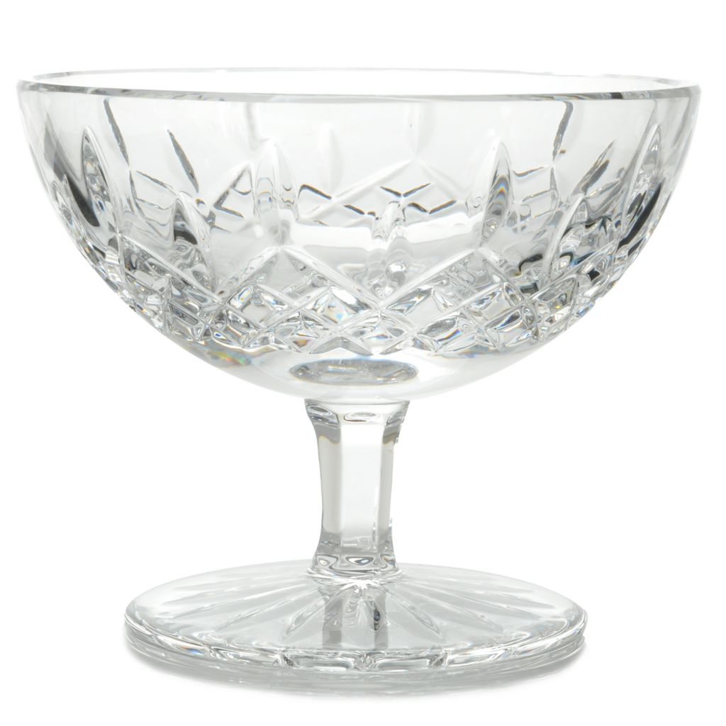 "444-215 - Waterford® Crystal Lismore 5.25"" Wedge & Diamond Cut Footed Bowl"