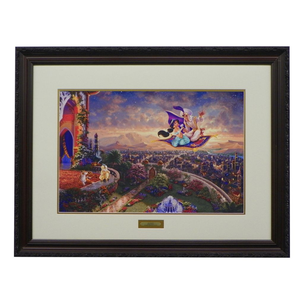 "444-222 - Thomas Kinkade ""Aladdin"" Limited Edition Framed Print"