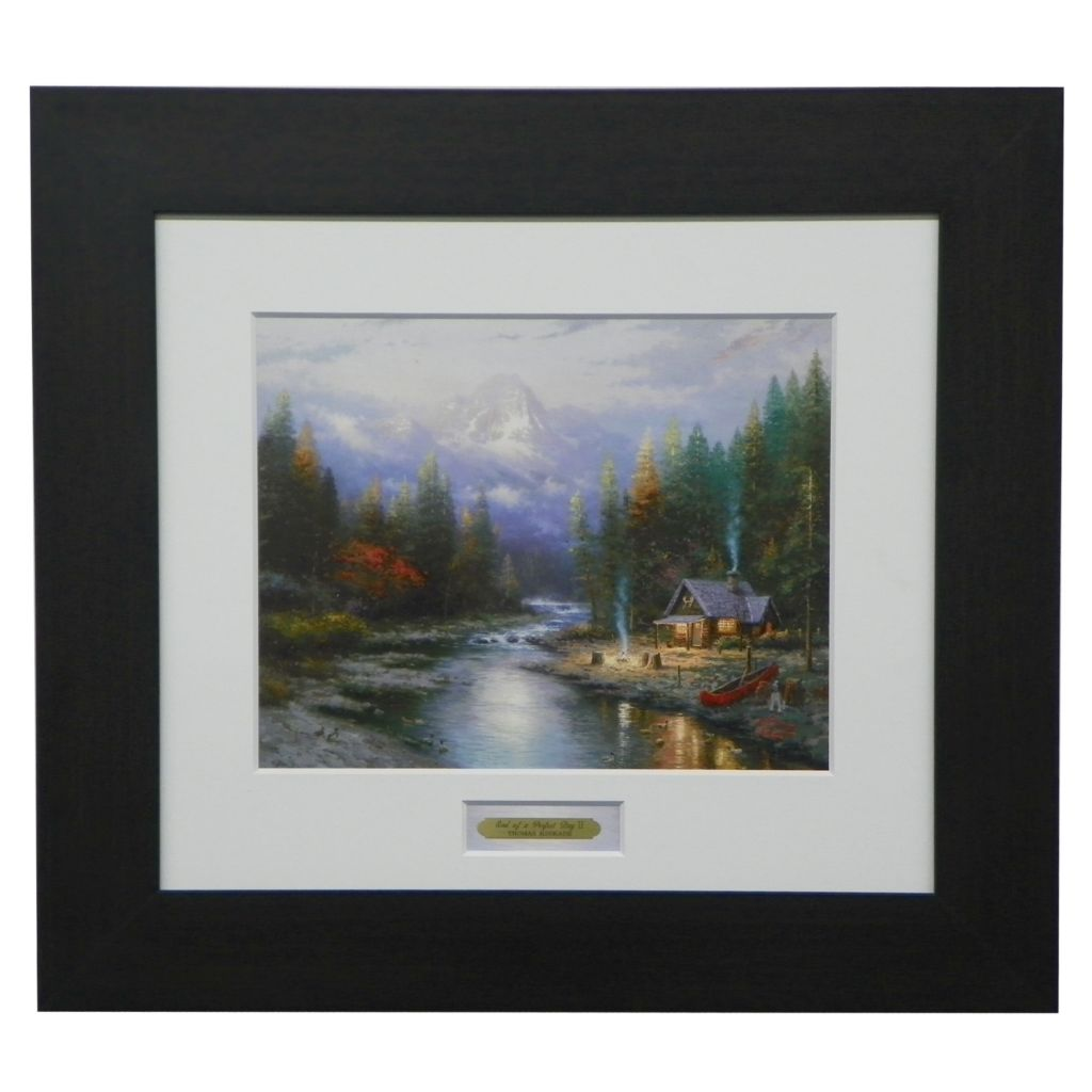 "444-223 - Thomas Kinkade ""End of a Perfect Day II"" Espresso Framed Print"