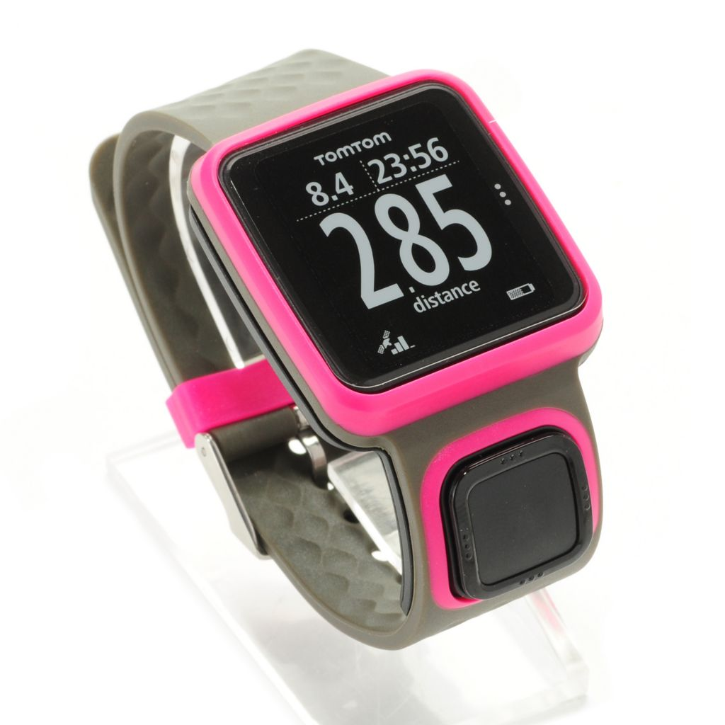 444-235 - TomTom Runner GPS Watch w/ One-Button Control & Large Display