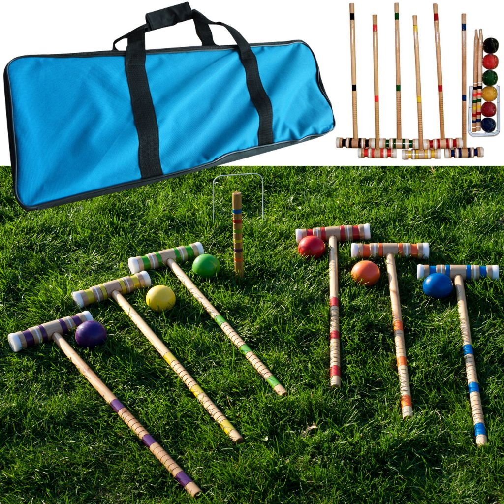 444-236 - Complete Croquet Set w/ Carrying Case