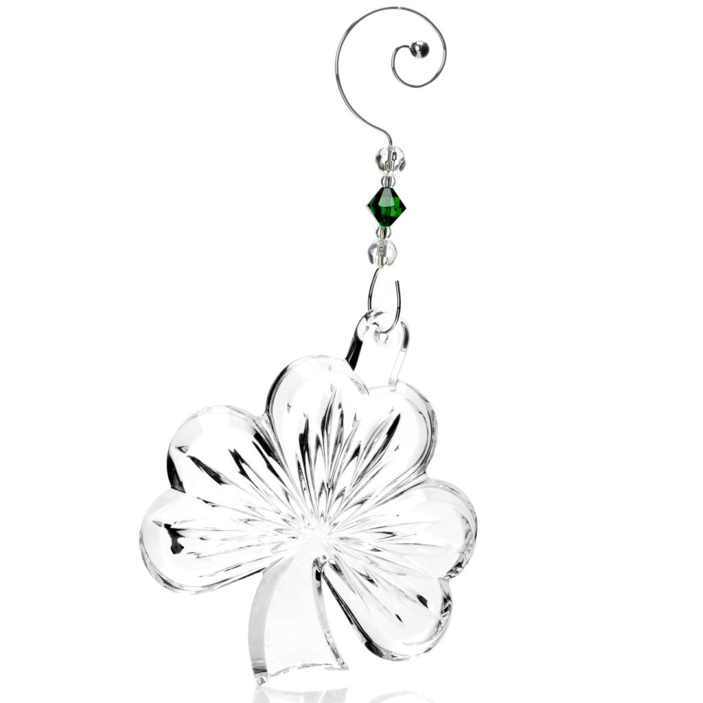 "444-252 - Waterford® Crystal 4"" Shamrock Ornament"