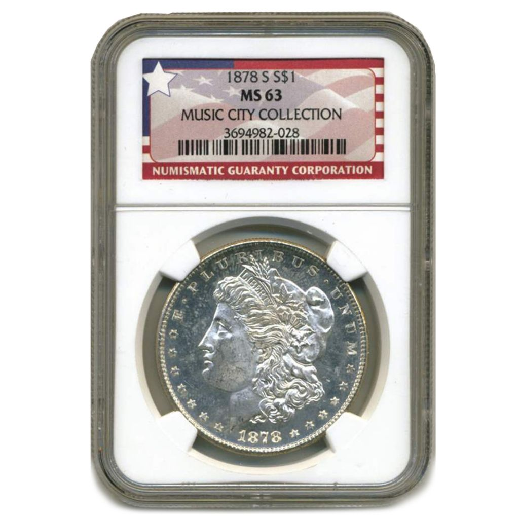 444-270 - 1878-1921 $1 Silver Morgan Music City Hoard MS63 NGC Coin Choice of Set