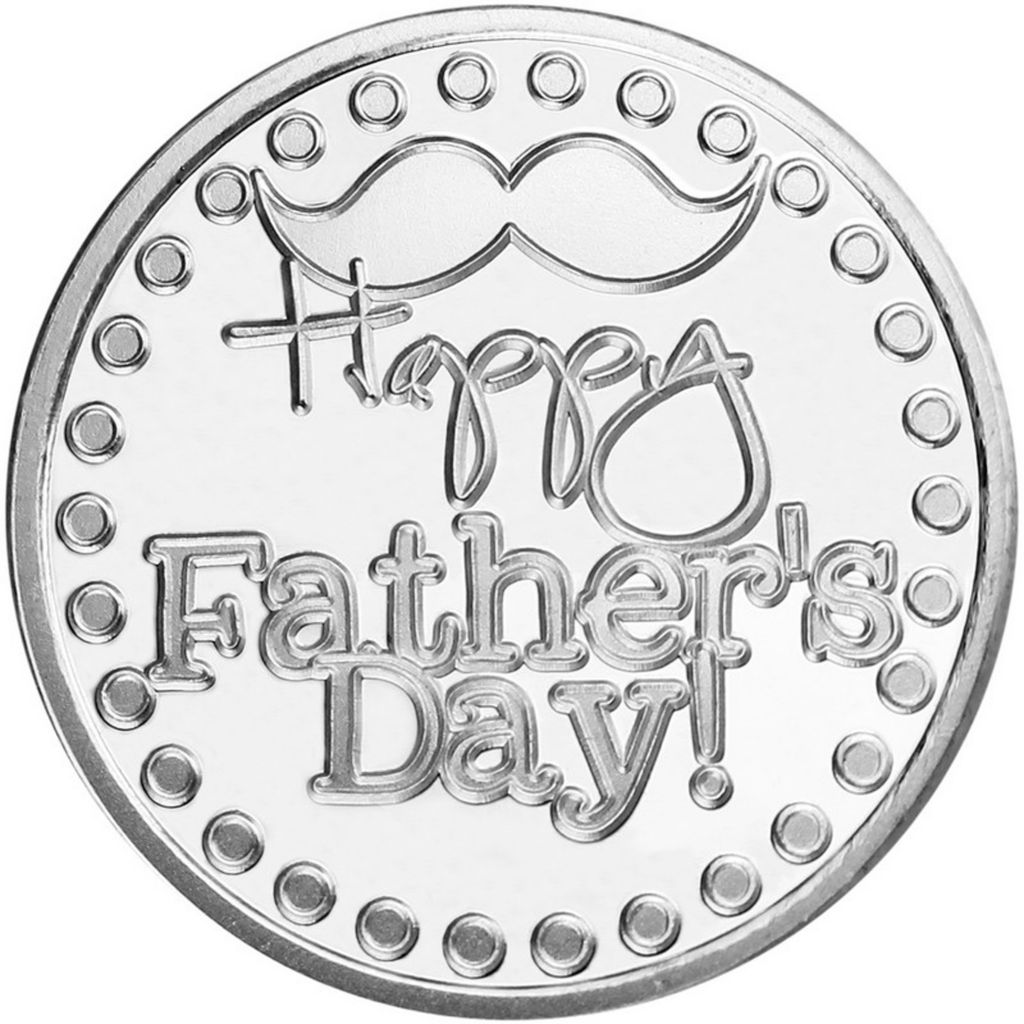 444-278 - 2014 Fine Silver Happy Father's Day BU Medallion
