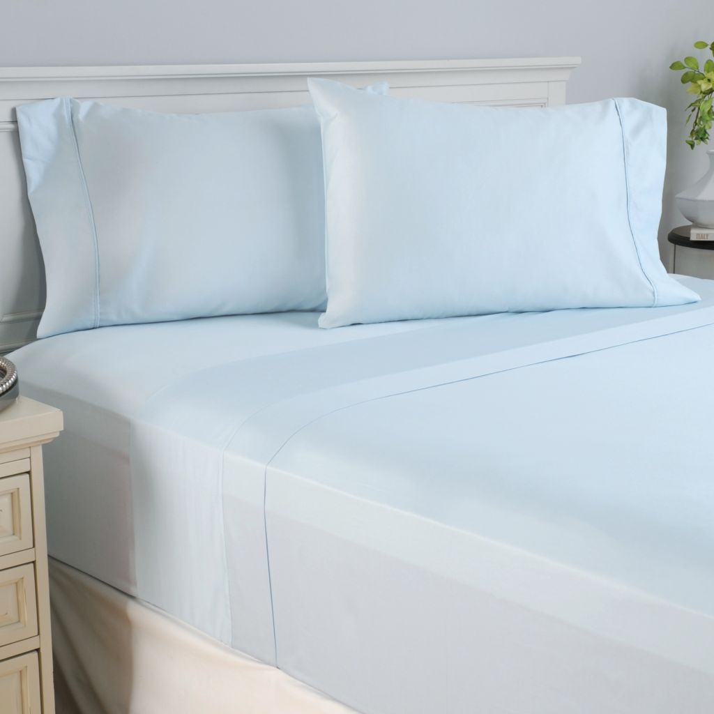 444-323 - North Shore Linens™ 400TC 100% Cotton Four-Piece Sheet Set