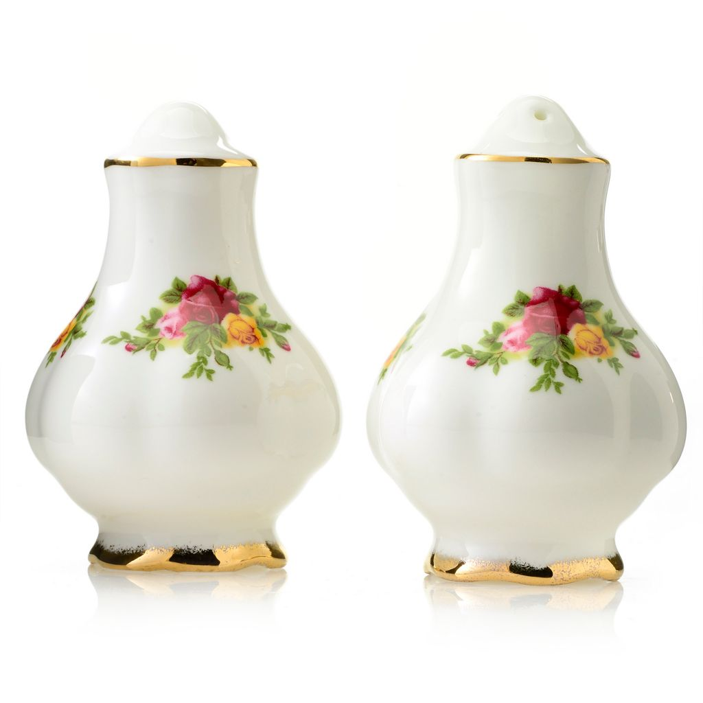 "444-348 - Royal Albert® Old Country Roses Two-Piece 3.25"" Bone China Salt & Pepper Shaker Set"