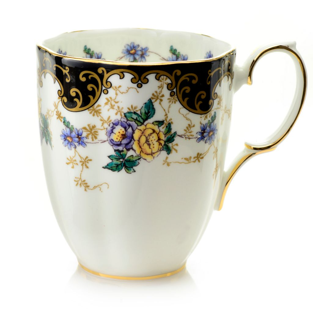 "444-349 - Royal Albert® ""100 Years"" 14 oz Bone China 9K Gold Trimmed Mug"