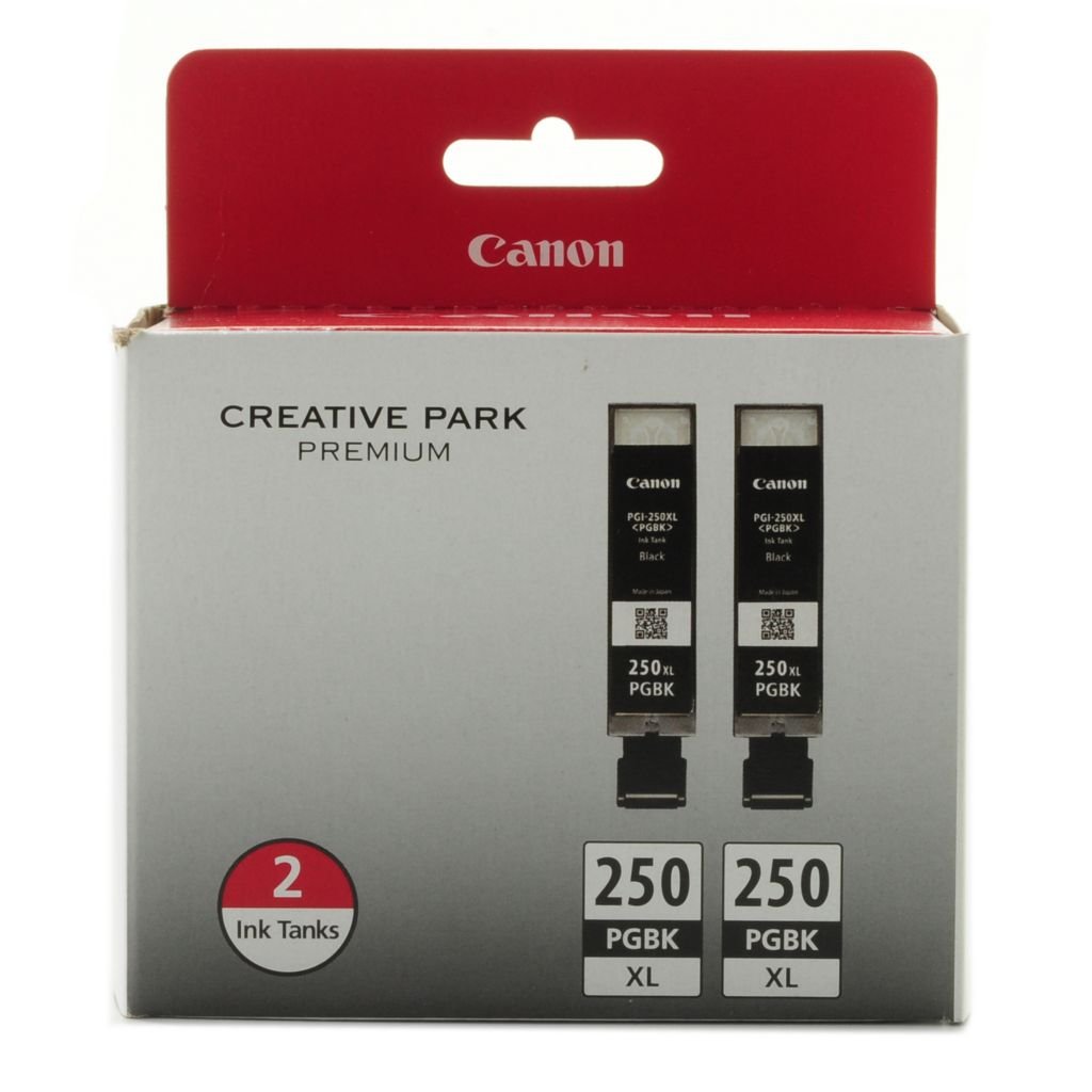 444-371 - Canon Black Ink XL Twin Pack Cartridges