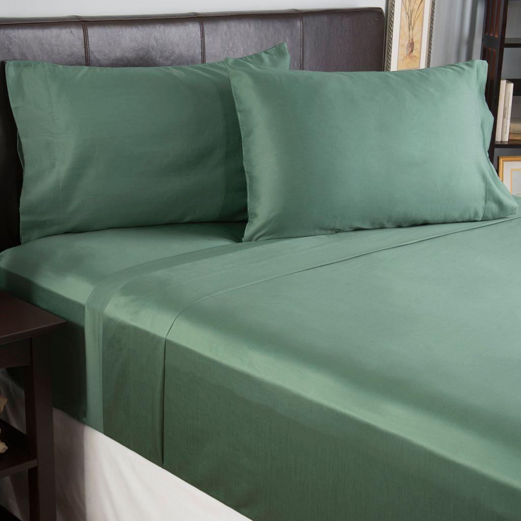 444-374 - North Shore Linens™ 600TC 100% Cotton Four-Piece Sheet Set