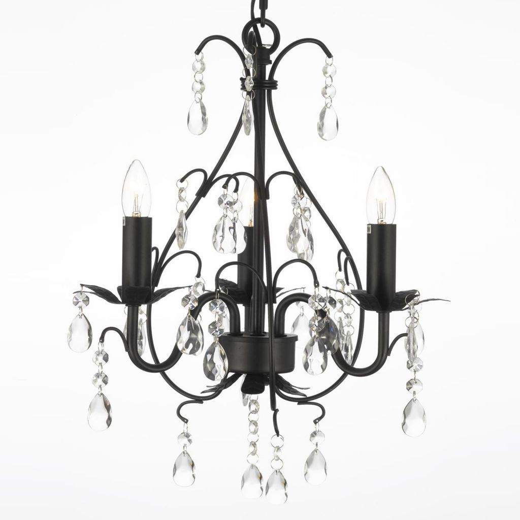 "444-378 - Gallery Versailles Collection 18"" Crystal & Wrought Iron Chandelier"