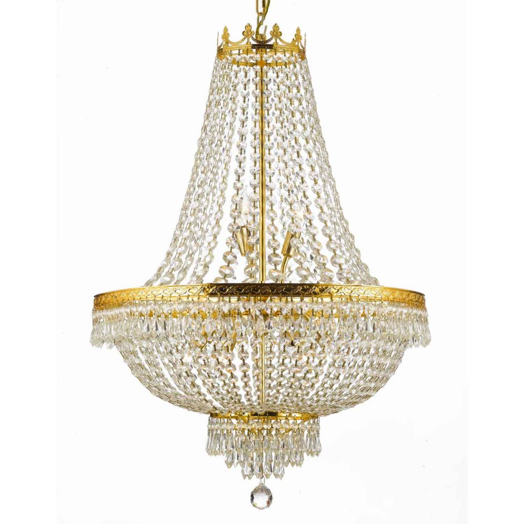 "444-396 - Gallery 30"" Empire Crystal Chandelier"