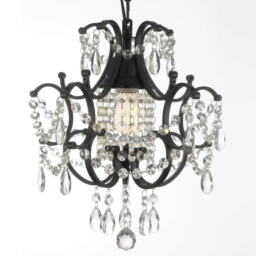 "444-398 - Gallery 14"" Crystal & Wrought Iron Chandelier"