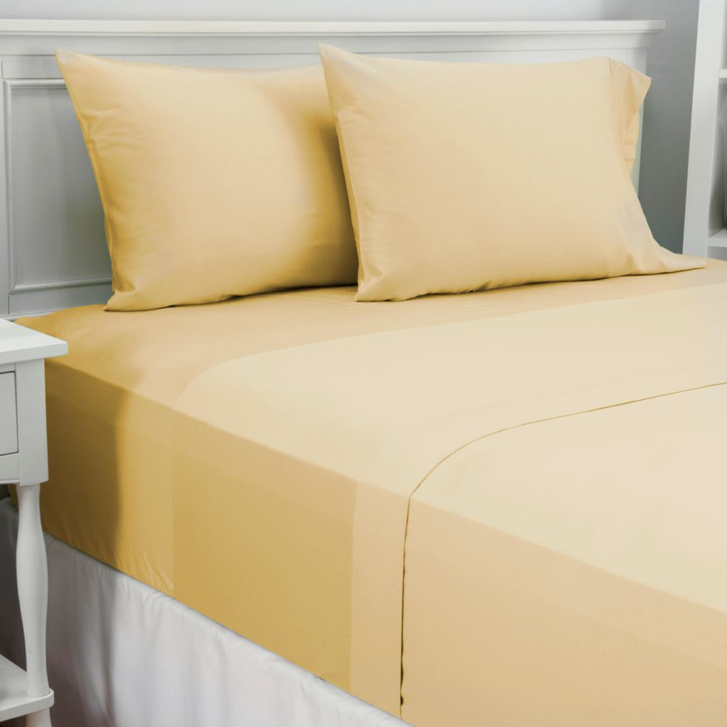 444-476 - Cozelle® 300TC 100% Cotton Solid Four-Piece Sheet Set