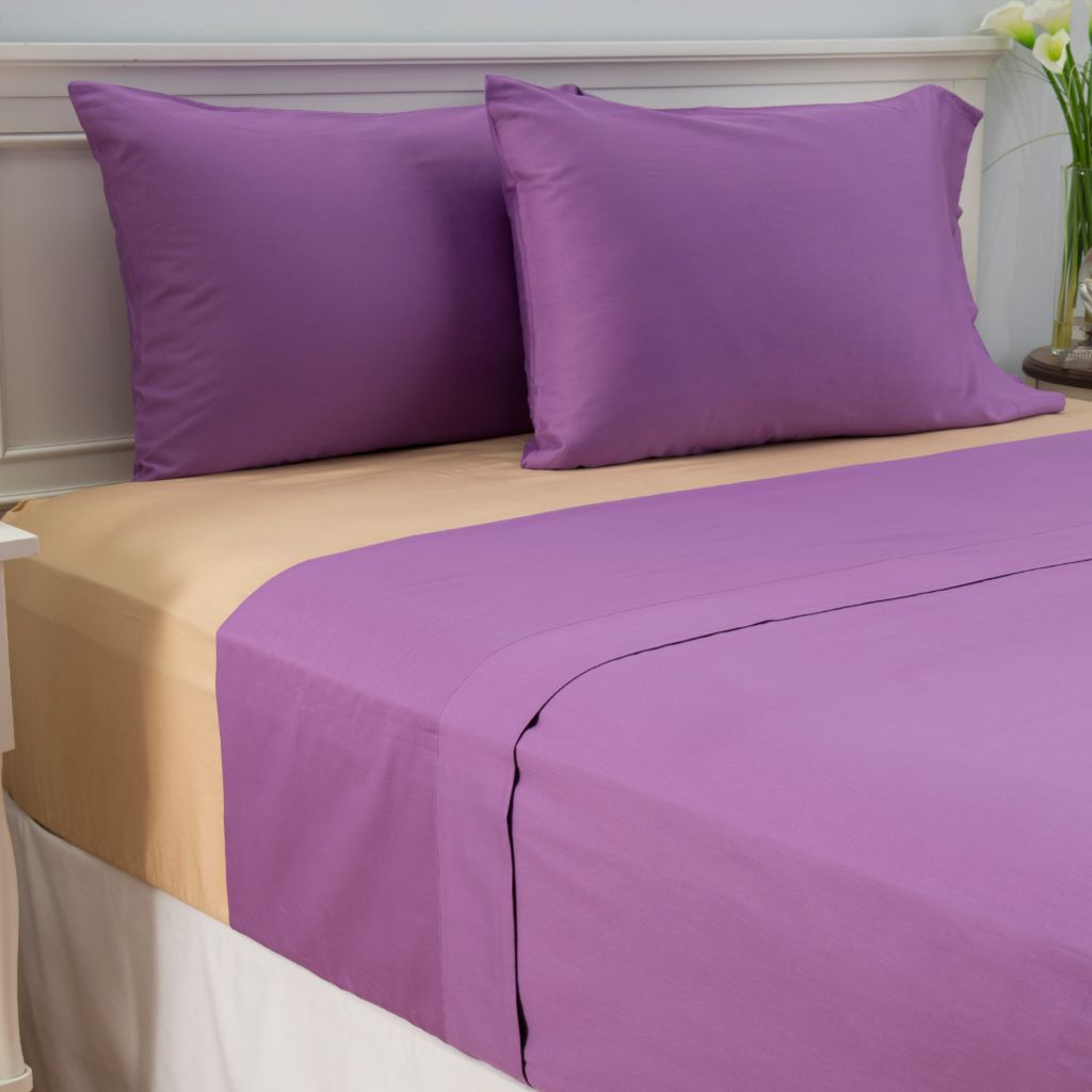 444-478 - Cozelle® Set of Two 300TC 100% Cotton Sateen Four-Piece Sheet Sets