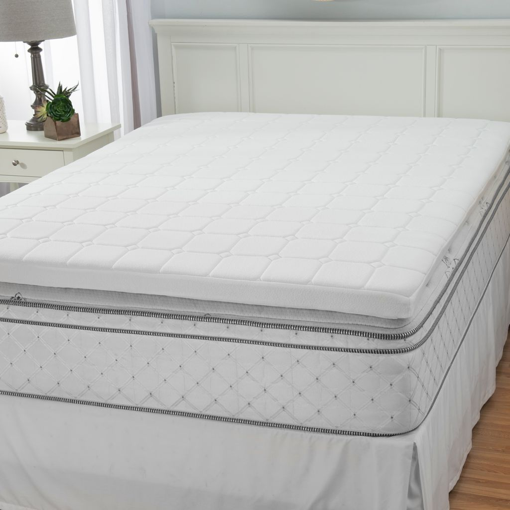 "444-487 - North Shore Linens™ 3"" Quilted & Gel Infused Memory Foam Mattress Topper"