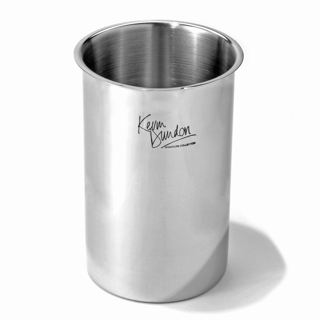 """444-491 - Kevin Dundon Signature Stainless Steel 6.75"""" Tool Crock"""