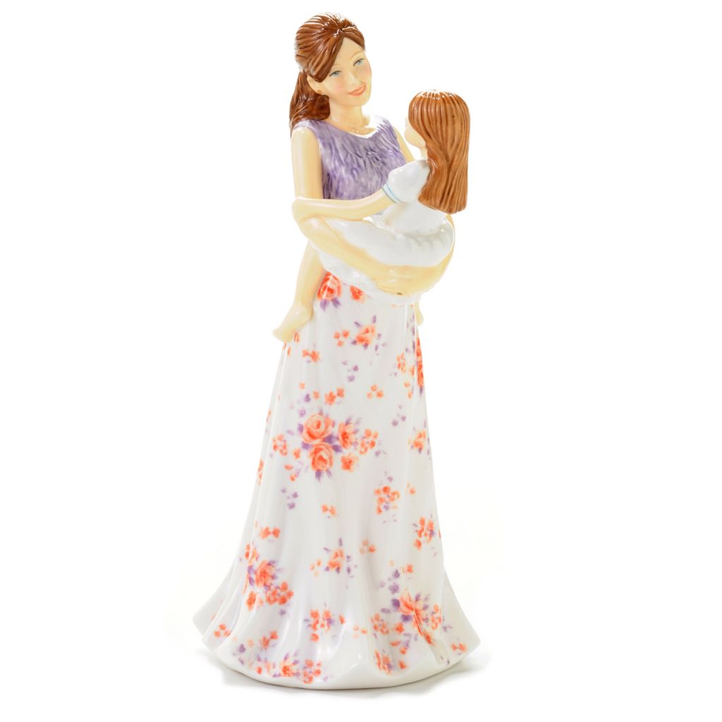 "444-510 - Royal Doulton®A Mother's Joy 9"" Bone China Hand-Decorated Figurine - Signed"