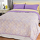 444-524 - Cozelle® 400TC Cotton / Poly Blend Six-Piece Sheet & Reversible Coverlet Set