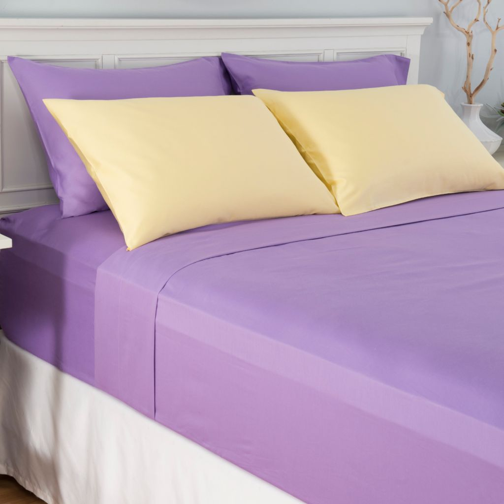 444-526 - Cozelle® Set of Two 400TC Cotton/Poly Blend Pillowcase Pairs