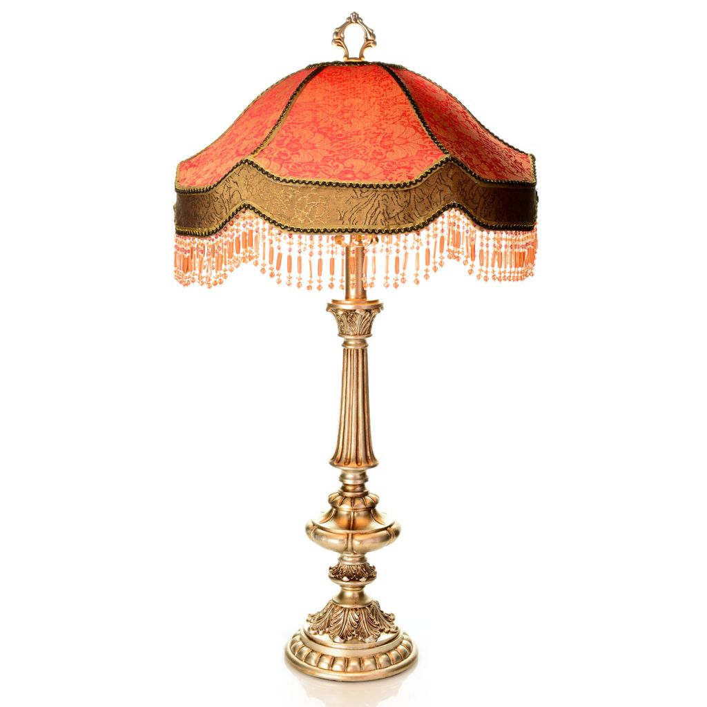 "444-549 - Style at Home with Margie 28.75"" Beaded Rosamund Table Lamp"