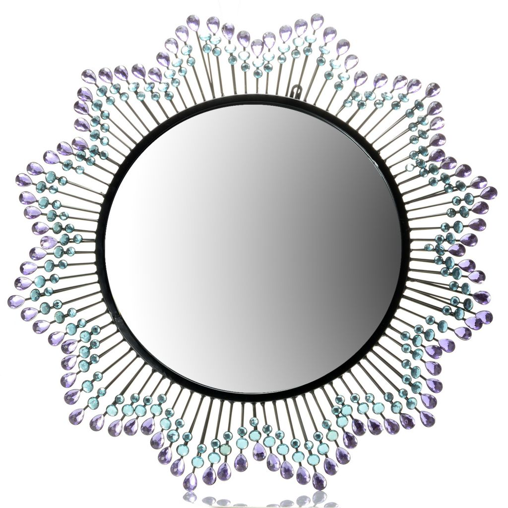 "444-550 - Style at Home with Margie 27.5"" Evening Sunburst Beveled Wall Mirror"
