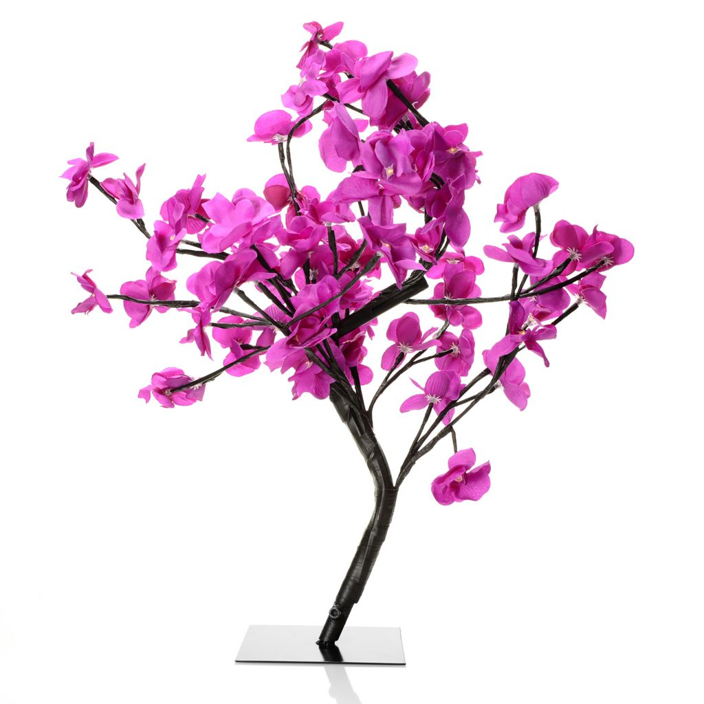 "444-555 - Style at Home with Margie 24"" Bloomington Lights LED Orchid Tree"
