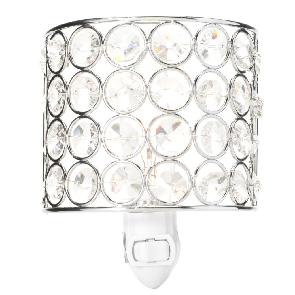 "444-556 - Style at Home with Margie 5.5"" Demi-Lune Crystal Glass Nightlight"