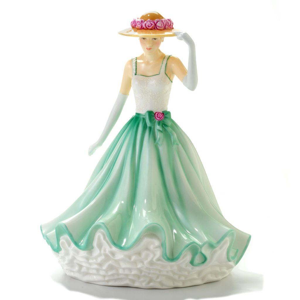 "444-576 - Royal Doulton® Sarah 9"" Bone China Hand-Decorated Pretty Ladies Figurine"