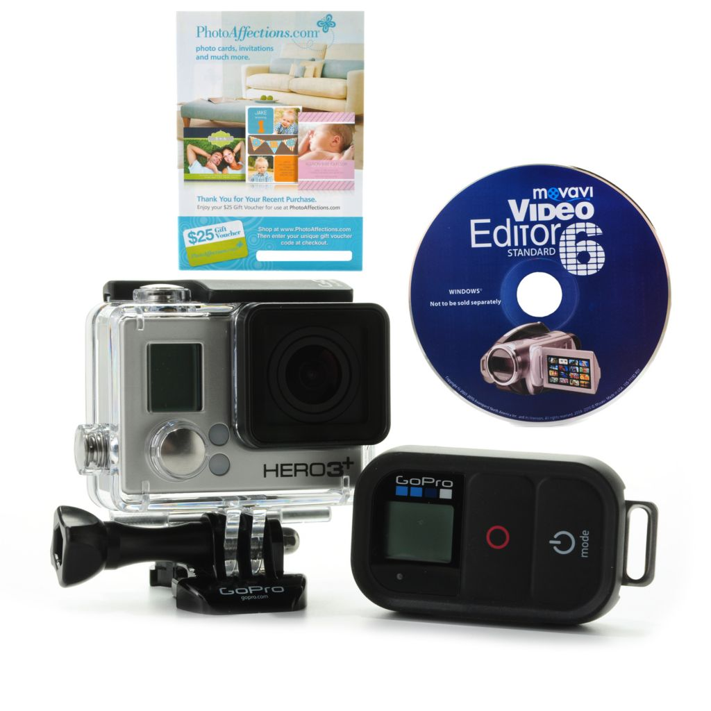 444-636 - GoPro HERO3+ Black Edition Wi-Fi Camera w/ 16GB SD Card & Software