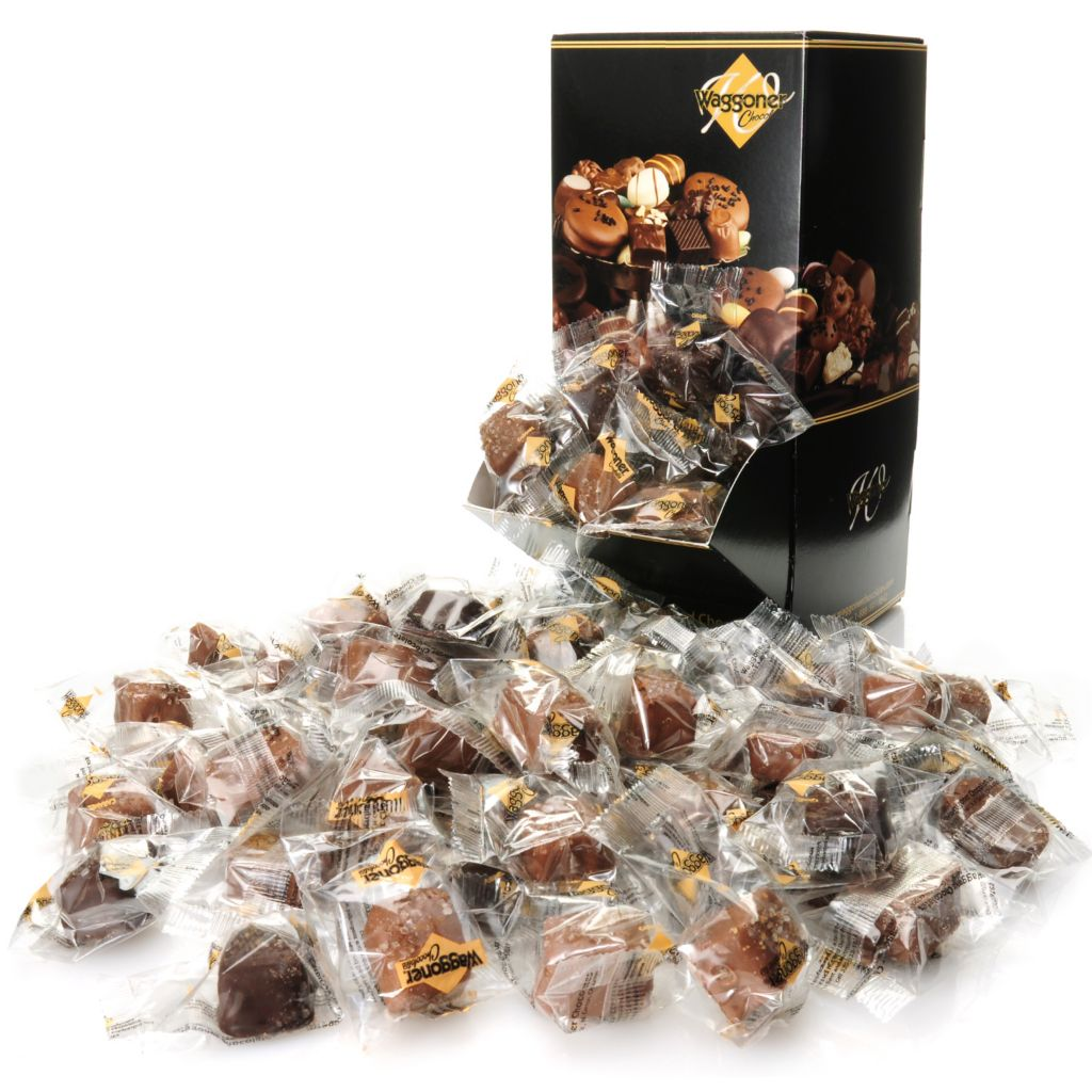 444-651 - Waggoner Chocolates 3.5 lb Individually Wrapped Sea Salt Caramel Chocolates