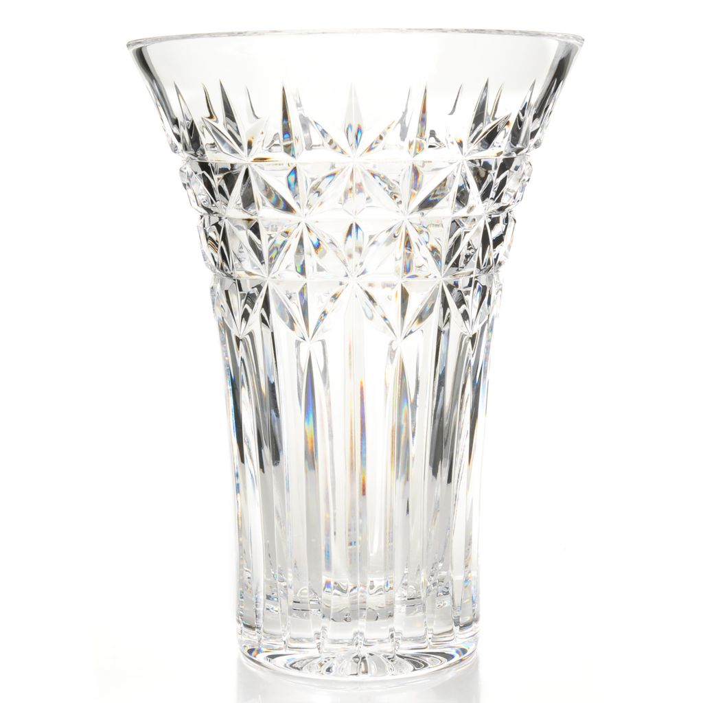 "444-657 - House of Waterford® Irish Stars 10"" Crystal Vase"
