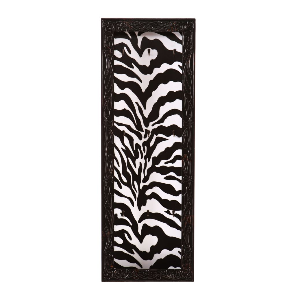 444-726 - Zebra Open Face Wall Mount Jewelry Storage