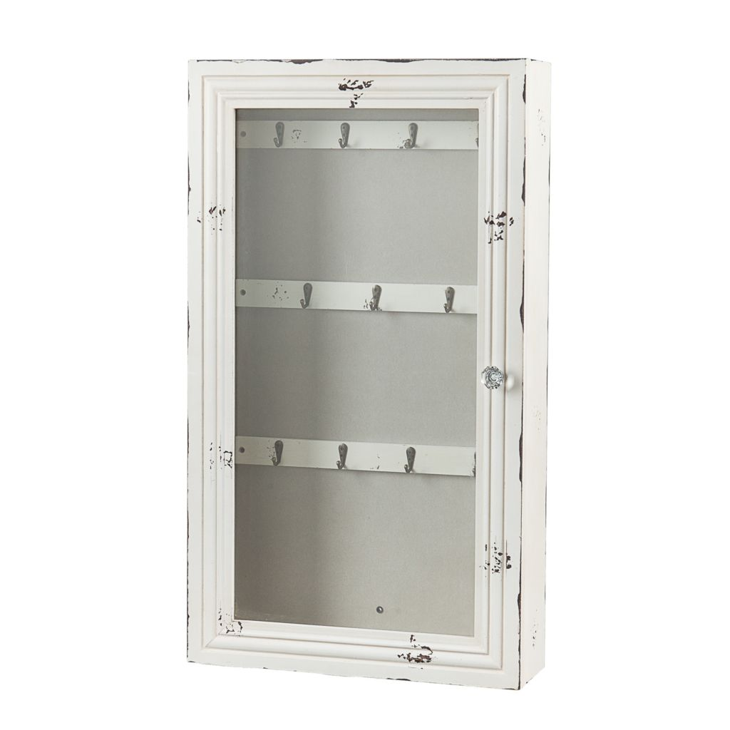 444-727 - Shabby Chic Wall Mount Jewelry Armoire
