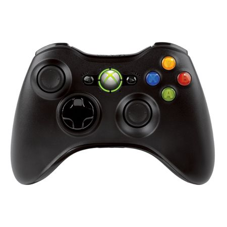 444-761 - Xbox 360 Black Wireless Controller
