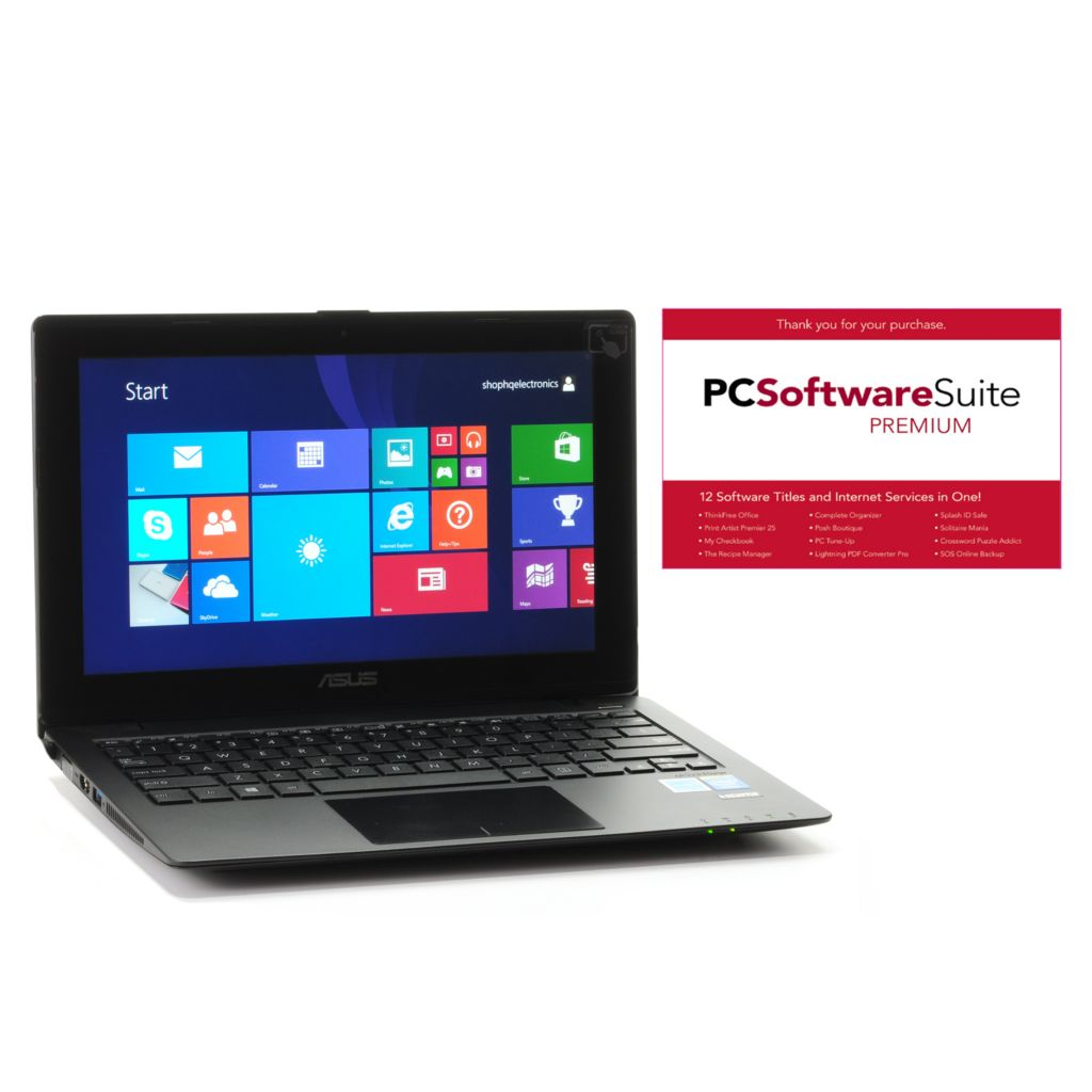 "444-780 - ASUS 11.6"" Touch Screen Windows® 8 4GB RAM/500GB HDD Wi-Fi Notebook w/ Software"