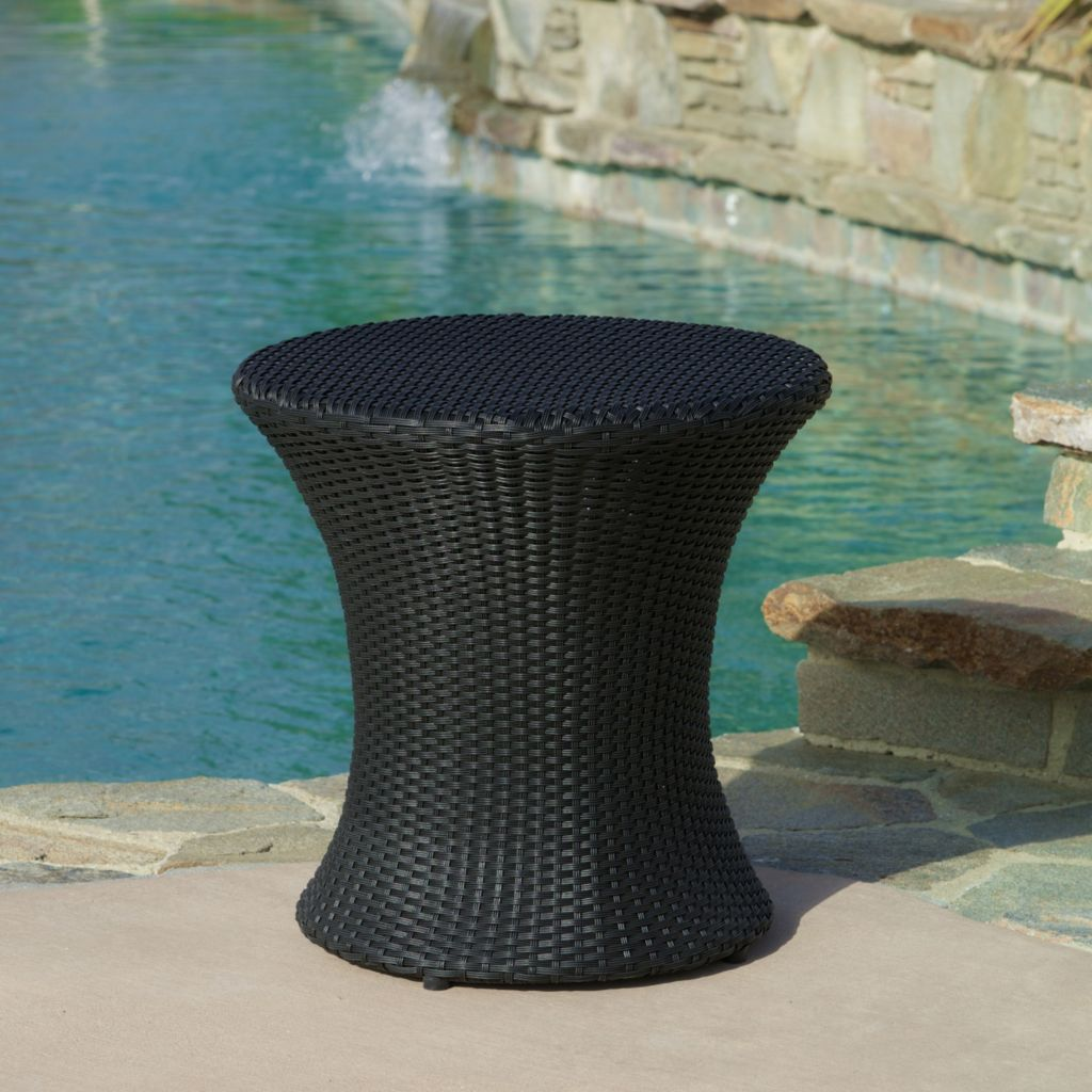 444-810 - Christopher Knight Home™ Adriana Wicker Outdoor Round Accent Table