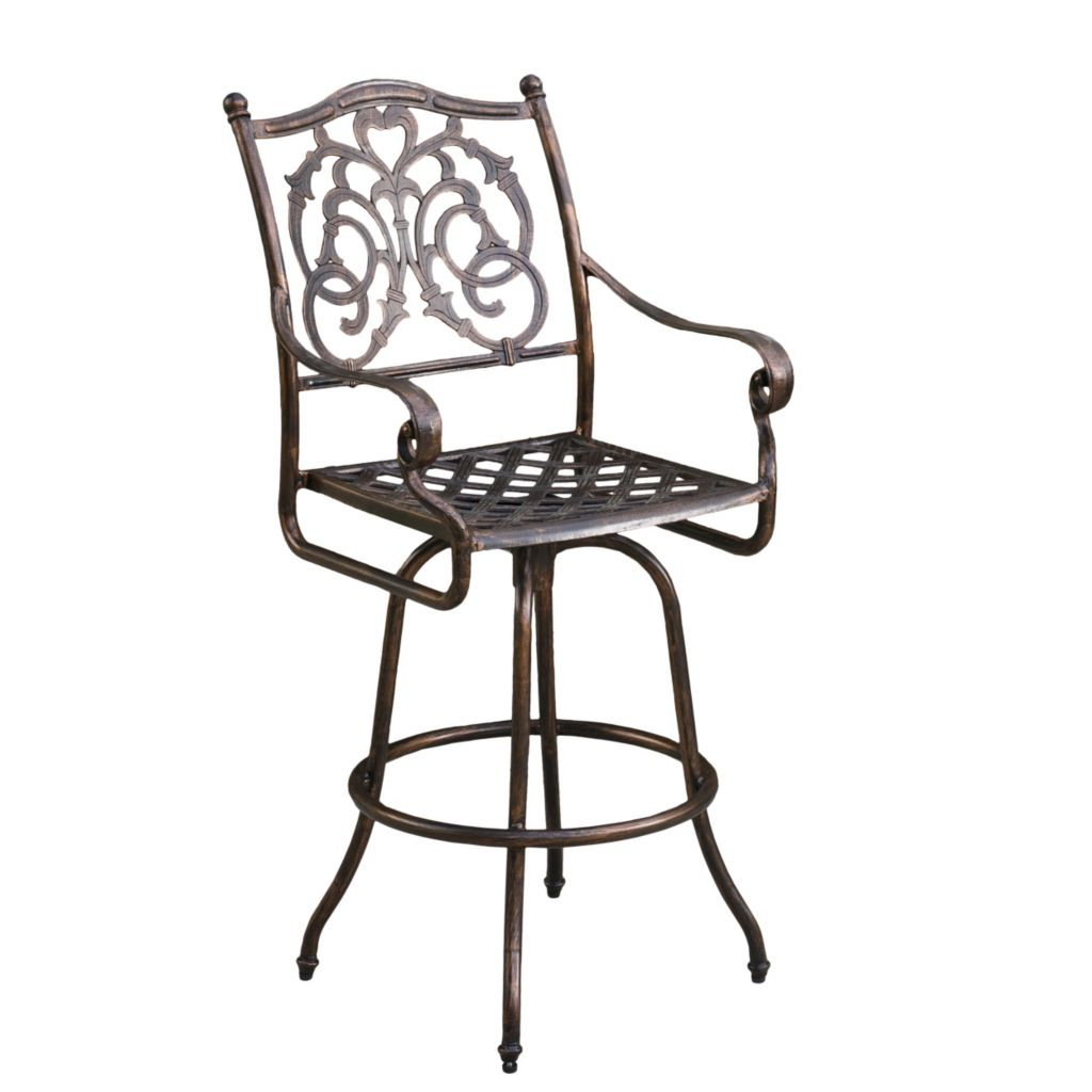 444-813 - Christopher Knight Home™ Casselberry Cast Aluminum Outdoor Copper Bar Stool