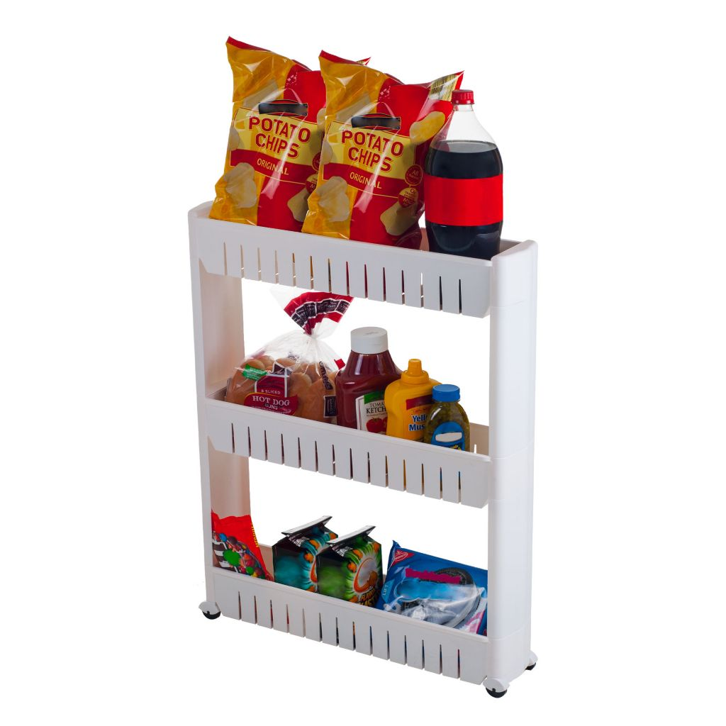 444-861 - Chef Buddy Three-Tier Slim Slide-out Pantry